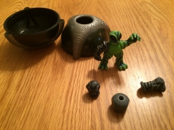 Magnetic action figure with shaker