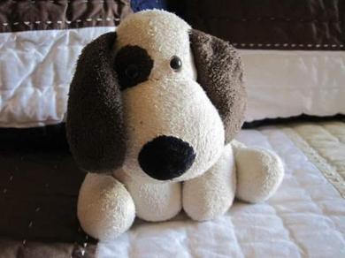 floppy plush puppy