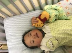 Crochet pooh lovey