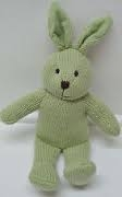 "BABY GAP Green Bunny Rabbit Knit Plush Soft Baby Toy 9"""