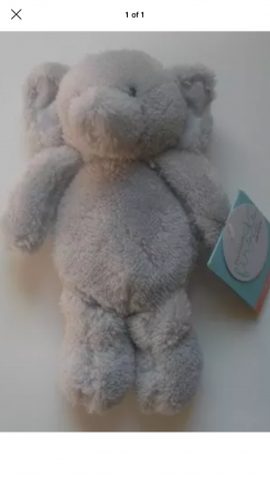 """8"""" grey elephant. Precious moments by carter's brand"""