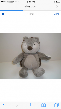 Stuffed carters hedgehog