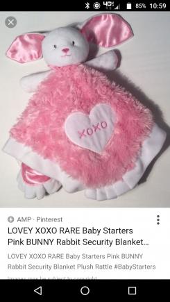 Xoxo bunny blanket that rattle's