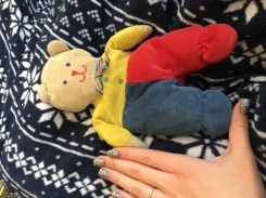Red, blue and yellow with rainbow bow small size