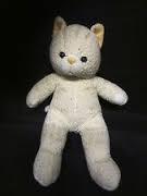 The Bear Factory cream cat with faint orange stripes