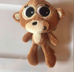 Mini Tiny  Cute Big Eye Justice Plush Monkey