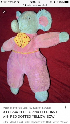 Eden Elephant from the 90s. Valor with polka dotted tie