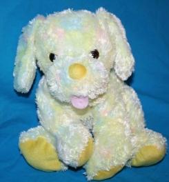 Walmart yellow green pastel tie dye puppy