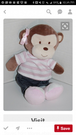Baby gear monkey girl 2012 blue jeans pink and white stripe shirt
