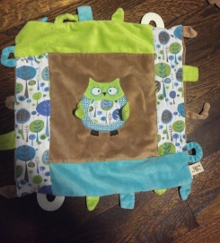 Owl lovey - brown/green/blue