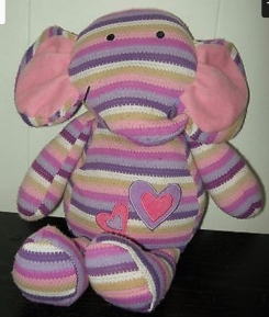 Striped pastel elephant