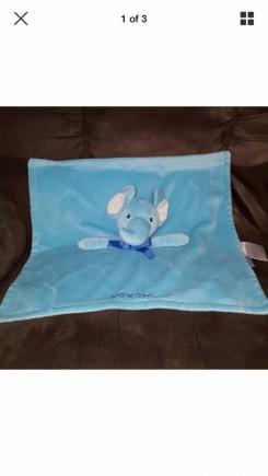 Honey Bunny, cuddly pals, xoxo Blue Elephant Security Blanket