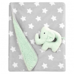 Gray blanket with white stars
