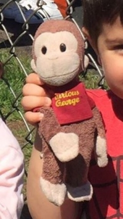 Curious George Monkey with Red Shirt - Well Loved