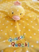 Yellow w/white polka dots Quack Quack Duck Security Blanket Lovey