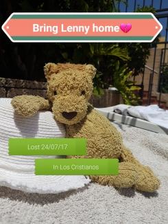 Lenny the Lion - jelly cat