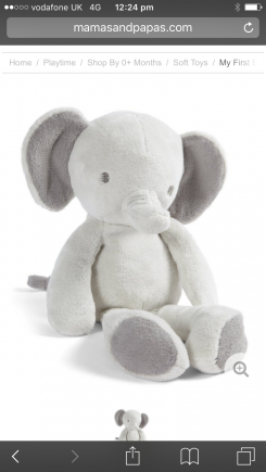Mammas and pappas grey elephant