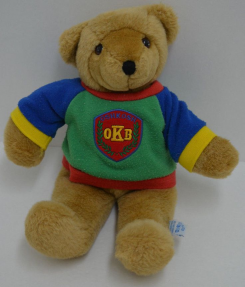 Oshkosh b'Gosh primary color shirt teddy bear