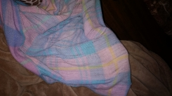 Vintage Pink/Blue/Purple blanket with or without the satin edging.