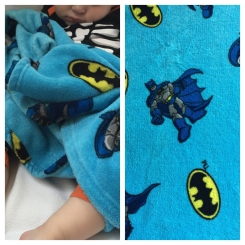 D.C. Comics Super Friends Blue Batman Baby Plush Blanket