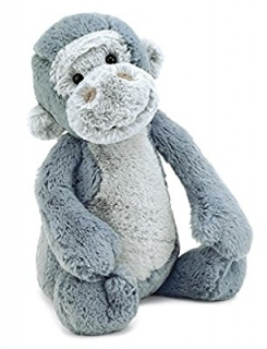 Grey Jellycat Bashful Gorilla
