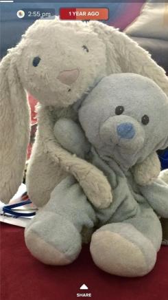 Ty Baby's First Bear-Light Blue