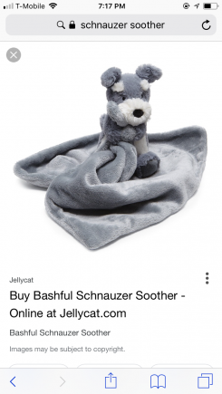 Jellycat schnauzer lovey soother