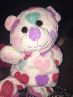 Animal Adventure 2016 Valentines Rainbow Hearts Bear