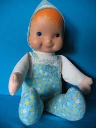 vintage Fisher Price 245 Bobby baby doll cloth body vinyl head