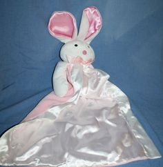 Pink and White Security Blanket Bunny from 2002