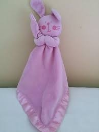 Spring Industries pink bunny security blanket toy