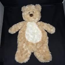 BABY GANZ FLAT-A-PAT BEAR. Tan