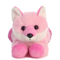 Pink fox plush aurora brand*a