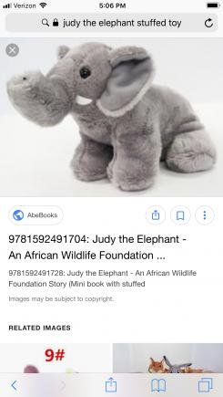 Small 6 inch grey elephant