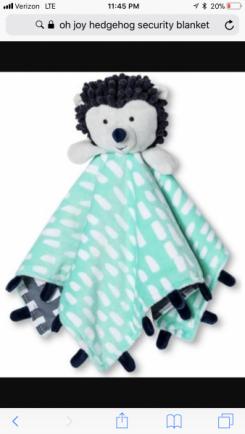Oh Joy! Hedgehog Security Blanket