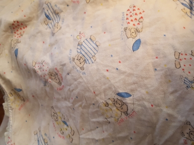 Searching For White Quilted Style Baby Blanket With Blue