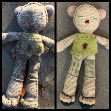 Special crocheted doll possibly from Montecito flooding