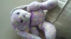 tye dye purple blue yellow ganz bunny with bow