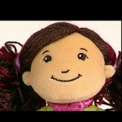 Doll with brown hair