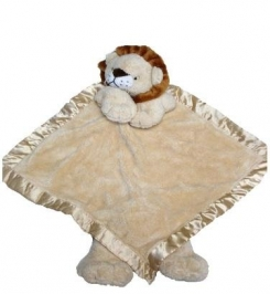 Lion Blanket Lovey from Ellis by Plush Image, replaced silk trim with darker trim