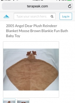 Angel Dear Brown Moose Lovey