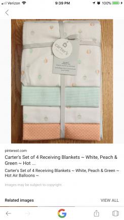 Carter's Hot Air Balloon Blankets— 2014/2015