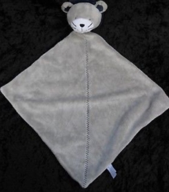 Carters Navy Blue Gray Lion Security Blanket Lovey