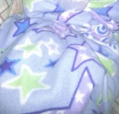 Fleece Blanket (blue, green, purple)