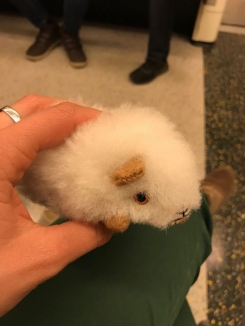 White hamster with real(?) fur