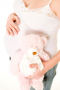 Pink and white teddy