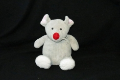 Michaels Craft Store Mouse Red Nose Gray/Grey