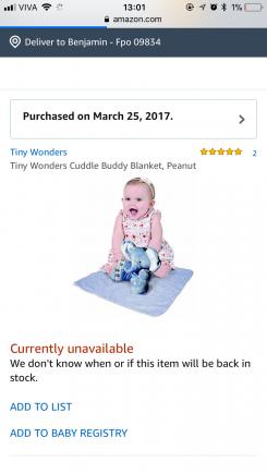 Tiny Wonders Cuddle Buddy, Peanut