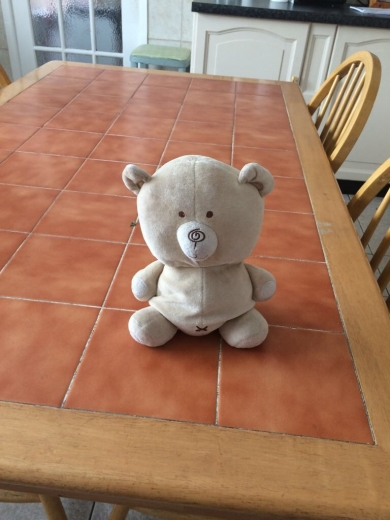 Lost Jellycat Elephant With Blanketblue And White Striped