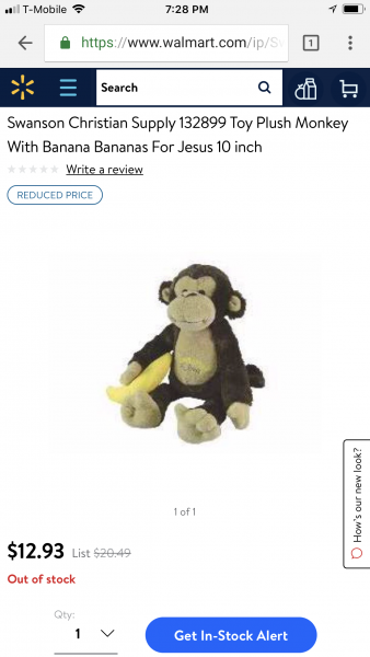 Bananas For Jesus Monkey